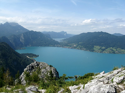 Attersee, is the largest lake of the Salzkammergut area in Austria.
