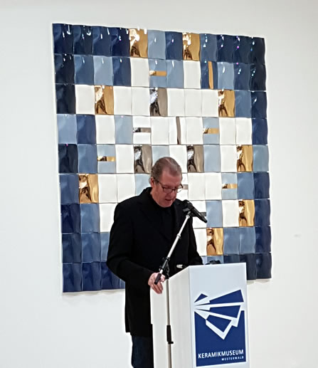 Christoph Hasenberg , delivering the Laudatio